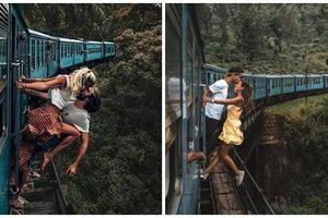 Khoe ảnh hôn nhau mạo hiểm khi tàu đang chạy, cặp du khách bị 'ném đá'