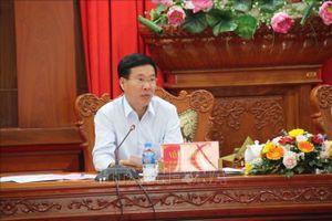 Đoàn công tác Tiểu ban Điều lệ Đại hội XIII của Đảng làm việc tại tỉnh Tiền Giang