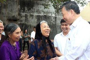 Bộ trưởng Tô Lâm tiếp xúc cử tri tại huyện Quế Võ, Bắc Ninh