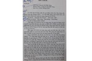 Người dân liên tiếp gửi thư cảm ơn lực lượng Công an Đắk Nông