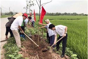LĐLĐ huyện Gia Lâm: Trồng và bàn giao 'Hàng cây bóng mát Công đoàn'