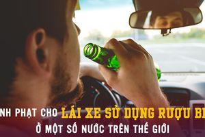 Hình phạt cho lái xe sử dụng rượu bia ở một số nước trên thế giới
