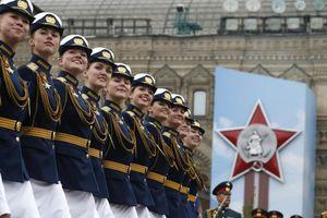 Nữ quân nhân Nga trong lễ duyệt binh Ngày Chiến thắng 2019