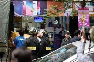 Khám xét hệ thống cửa hàng điện thoại Nhật Cường mobile tại Hà Nội