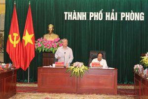 Đoàn Tiểu ban Văn kiện Đại hội XIII làm việc với Thành ủy Hải Phòng