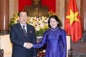 Phó Chủ tịch nước Đặng Thị Ngọc Thịnh tiếp Chánh án Tòa án Trung ương Triều Tiên