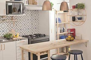 9 phòng bếp nhỏ xíu nhưng nhìn là mê, rất đáng tham khảo cho nhà chật