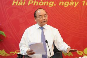 Thủ tướng Nguyễn Xuân Phúc kỳ vọng Hải Phòng phát triển trở thành trung tâm khu vực phía Bắc