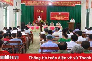 Đại biểu HĐND tỉnh tiếp xúc cử tri tại huyện Ngọc Lặc