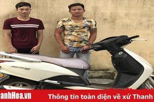 Công an TP Sầm Sơn tạm giữ 2 đối tượng liên quan đến vụ trộm cắp xe máy