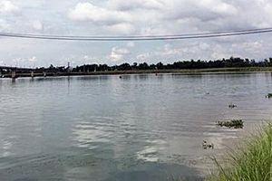 Lật ghe trên sông Thu Bồn, 1 người mất tích