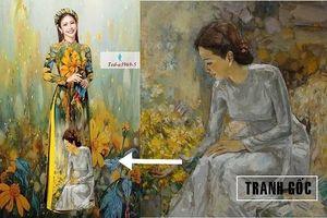 Vụ 'đạo' tranh in lên vải: Đơn vị sai phạm gửi lời khen ngợi dành cho họa sỹ