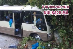 Ô tô tông vào vách núi Bạch Mã, đoàn khách Singapore gặp nạn