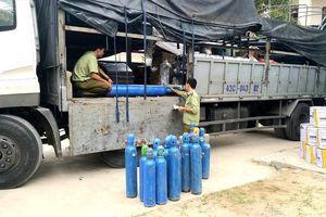 Quảng Bình: Tạm giữ lô hàng bình khí, thực phẩm, mỹ phẩm không rõ nguồn gốc