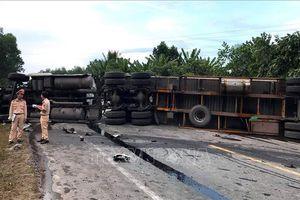 Tai nạn liên hoàn khiến đường tránh Nam Hải Vân bị ách tắc