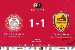 Vòng 9 V-League 2019: TP.HCM gia tăng cách biệt với Hà Nội FC lên 2 điểm