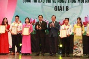 NTNN đoạt 2 giải trong cuộc thi báo chí viết về nông thôn mới