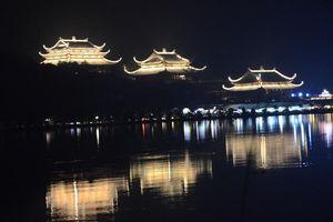 Chùa Tam Chúc lung linh về đêm dịp Đại lễ Vesak 2019