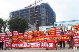 Hàng trăm cư dân khu Đoàn Ngoại giao xuống đường phản đối điều chỉnh quy hoạch
