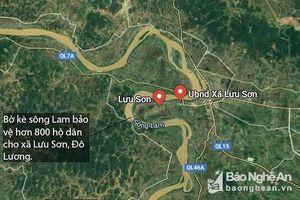 Kè bờ sông Lam bảo vệ trên 800 hộ dân trước mùa bão