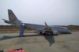 Gặp sự cố trên không, máy bay chở 82 hành khách tiếp đất bằng bụng
