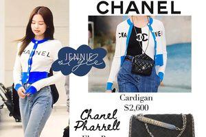 Vừa về Hàn Quốc đã mặc nguyên cây Chanel, Jennie hẳn là đại sứ thương hiệu có tâm nhất quả đất