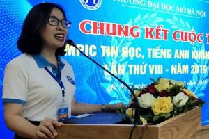 Sinh viên Đại học Mở Hà Nội thi tài Tiếng Anh