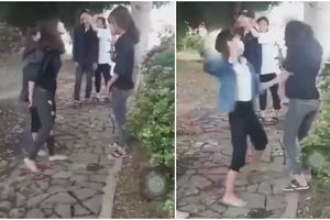Quảng Bình: Xôn xao clip nhóm học sinh nữ đánh bạn liên tiếp vào mặt