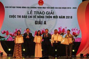 Trao giải Cuộc thi báo chí viết về nông thôn mới năm 2018