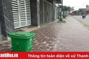 Thị trấn Rừng Thông (Đông Sơn): Bảo vệ môi trường từ những thùng rác xanh