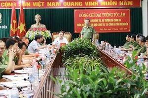 Đại tướng Tô Lâm thăm và làm việc tại Công an tỉnh Điện Biên