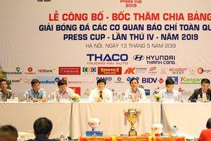 Bốc thăm chia bảng Giải bóng đá Press Cup 2019