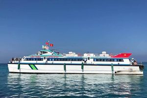 Đã có tàu siêu tốc 'khủng' chở khách ra đảo Lý Sơn