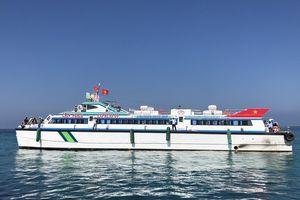 Tàu siêu tốc tuyến Sa Kỳ - Lý Sơn chính thức đưa vào hoạt động