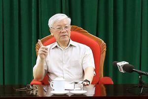 Tổng bí thư, Chủ tịch nước Nguyễn Phú Trọng chủ trì họp lãnh đạo Đảng, Nhà nước