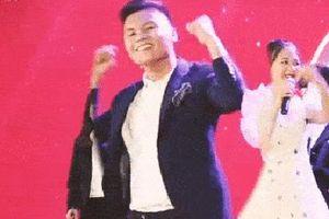 Được yêu cầu trổ tài làm dancer nhưng quên động tác, Quang Hải có màn sáng tạo khiến người xem bất ngờ