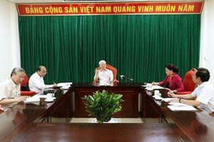 Tổng Bí thư, Chủ tịch nước Nguyễn Phú Trọng chủ trì họp lãnh đạo chủ chốt của Đảng và Nhà nước