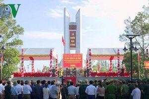 Long trọng đưa 98 liệt sĩ quy tập tại Lào về với đất mẹ
