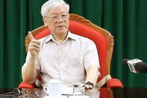 Tổng Bí thư, Chủ tịch nước Nguyễn Phú Trọng chủ trì họp lãnh đạo ngày hôm nay (14/5)