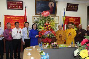 Lãnh đạo thành phố thăm, chúc mừng Giáo hội Phật giáo Việt Nam TP Hà Nội