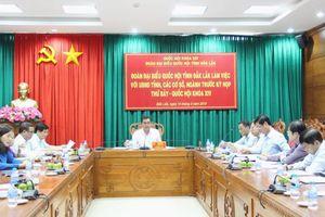 Đoàn Đại biểu Quốc hội tỉnh Đắk Lắk ghi nhận ý kiến các sở, ngành trước Kỳ họp thứ 7, Quốc hội khóa XIV