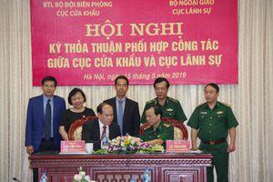 Ký kết thỏa thuận phối hợp giữa Cục Cửa khẩu BĐBP và Cục Lãnh sự, Bộ Ngoại giao