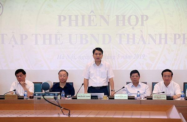 UBND TP Hà Nội họp bàn nhiều vấn đề quan trọng