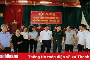 Đại biểu HĐND tỉnh tiếp xúc cử tri huyện Quảng Xương