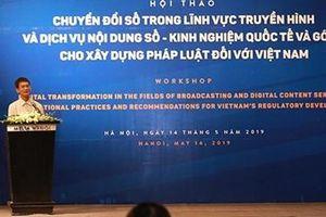 Hội thảo về chuyển đổi số trong lĩnh vực truyền hình và dịch vụ nội dung số
