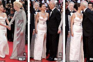 Selena Gomez thăng hạng nhan sắc, đẹp hút mắt trên thảm đỏ LHP Cannes