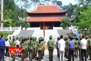 Cục Truyền thông CAND báo công dâng Bác tại Khu di tích Đá Chông