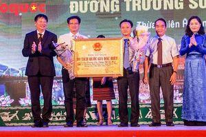 Đón nhận bằng xếp hạng Di tích Quốc gia đặc biệt 'Đường Trường Sơn - Đường Hồ Chí Minh'