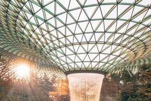 Mô hình sân bay công viên sinh thái Jawel Changi tại Singapore