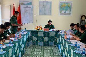 Bộ Tham mưu BĐBP kiểm tra tại Đồn Biên phòng cửa khẩu Long Bình